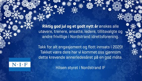 Nordstrand IF ønsker alle en god jul